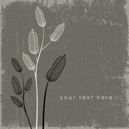 Flower background, vector-retro Illustration