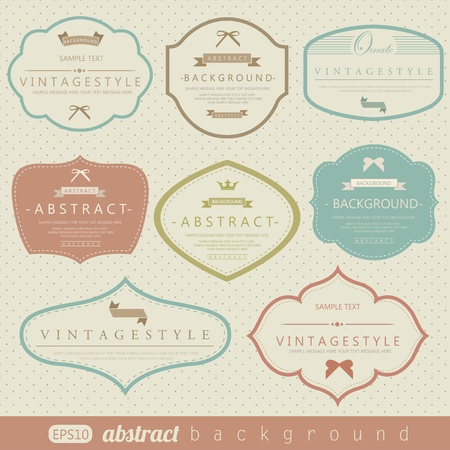 Retro vintage labels collection Illustration