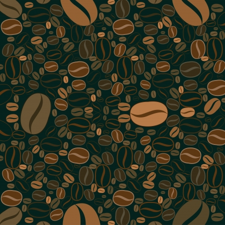 Coffee beans background Illustration