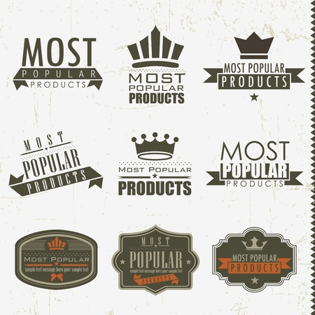 Most popular signs and labels Vector