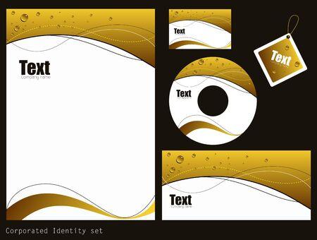 Corporate Identity Template Illustration