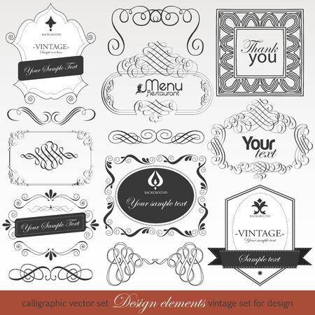 Calligraphic design elements for design