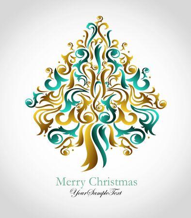 Illustrated Christmas tree