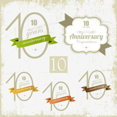 numero diez: 10 a�os del aniversario de otros signos jubilares y el dise�o de tarjetas