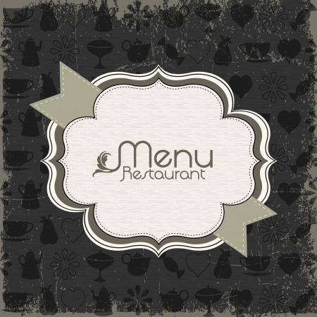 tray: Menu van het restaurant design elementen Stock Illustratie