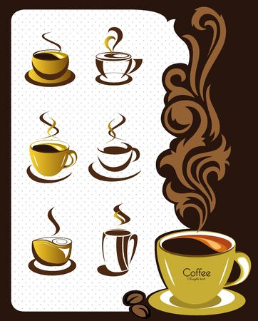 Coffee cup elements and collection for design Vector