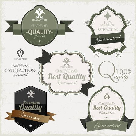 Vintage premium qualitylabels Stock Vector - 16967548