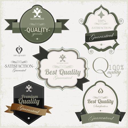 Vintage premium qualitylabels Illustration