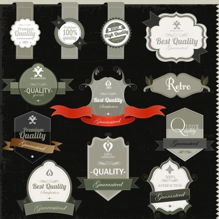 Vintage premium qualitylabels Stock Vector - 16967549