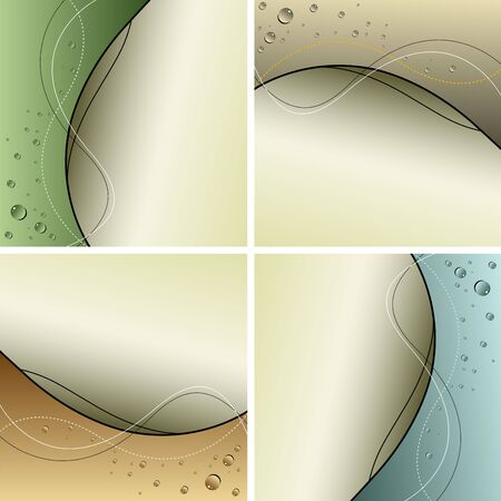 abstract background collection with water drops Vector