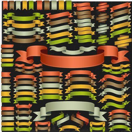 Set of vector ribbons  Illustration