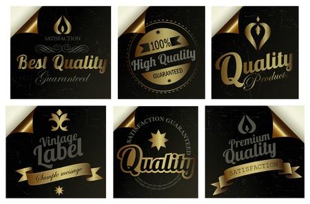 Gold Premium Quality Labels