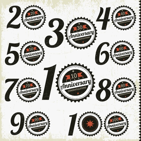90 years: Anniversario altro giubileo punti, segni e design carte