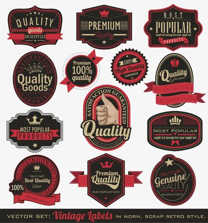 Vintage premium quality and most popular labels