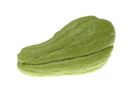 chayote: Ripe chayote on white background.