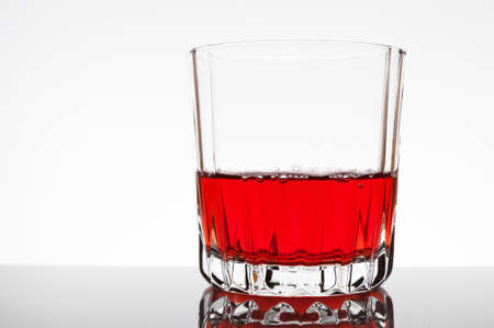 Glass of red juice
