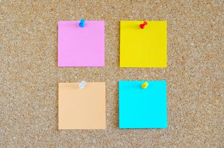Cork board with colorful post-it Stock Photo - 17308313