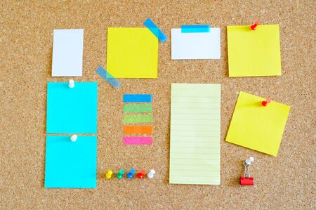 Pin board with lots of items Stock Photo - 17580501
