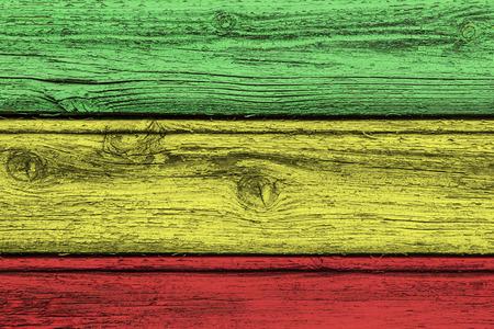 rasta colors: Wooden Rasta colors. Stock Photo