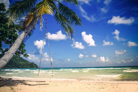 Phu Quoc island, Sao tropical beach in Vietnam. Stock Photo - 72785794