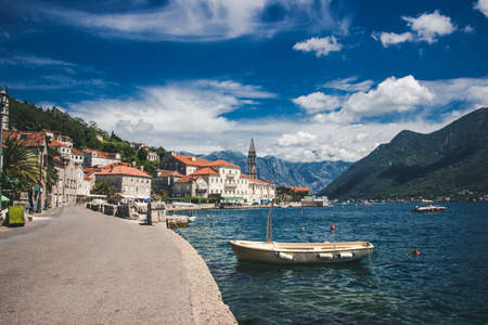 Kotor bay beautiful summer landscape.