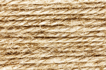 Brown linen rope pattern texture.