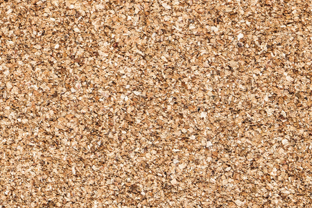 Brown cork board flat texture. Empty copy space. Noticeboard backdrop for graphic design.