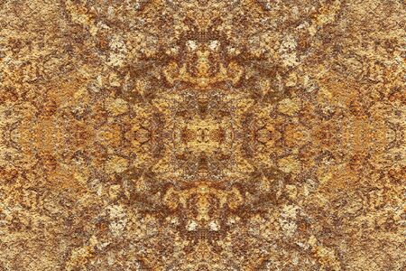 Abstract mosaic orange corroded metal background. Grunge rusty pattern texture. 免版税图像