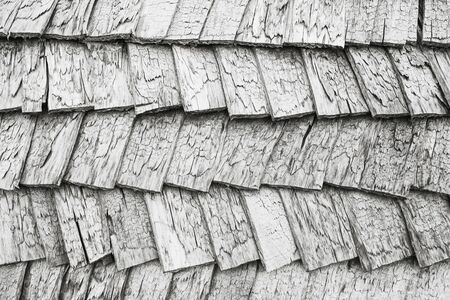 Gray wooden roof tile texture. Фото со стока