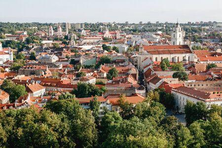 European town cityscape. Rooftops travel landscape.