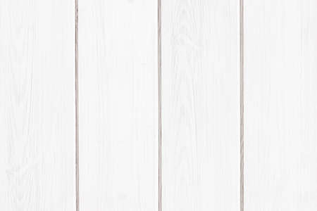 White wood texture. Bright paint plank background. Wooden desk board.