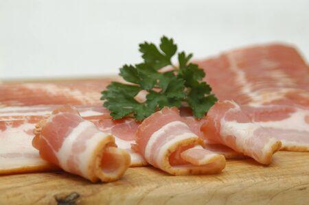 sliced bacon photo