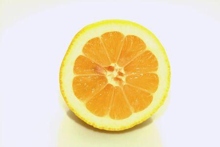 cut through: lemon cut through Stock Photo
