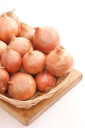 Onions in a basket