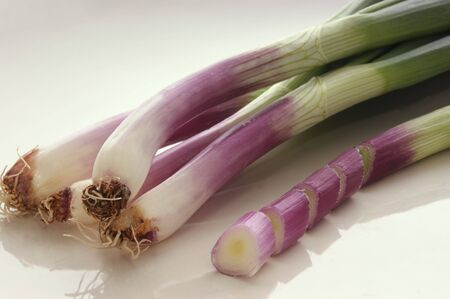 some spring onions Stock Photo