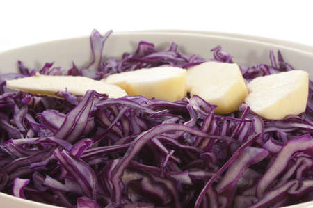 red cabbage: fresh red cabbage