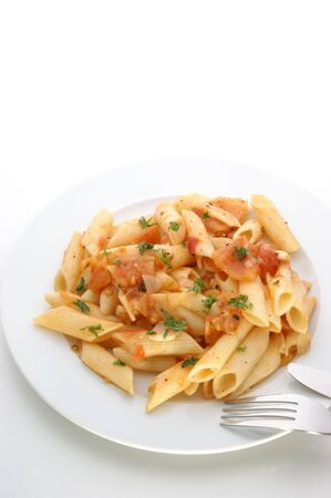 pasta with fresh organic tomato and spices Stock Photo - 5197517