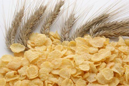 corn flakes: flocons de ma�s et de c�r�ales Banque d'images