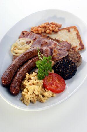 traditional irish breakfast on a large plate photo