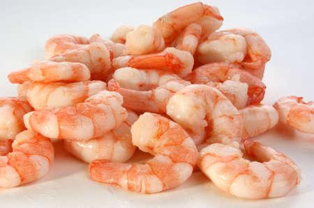 some fresh organic prawns ready to eat