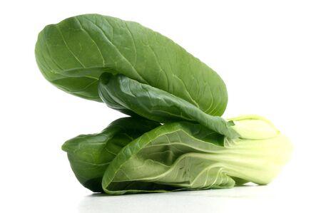 fresh organic pak choi on a white background photo