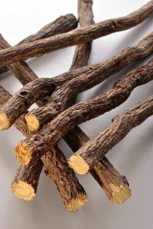 liquorice: liquorice root to make some nice home made sweets Stock Photo