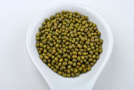 mung: organic mung beans are good for salad Stock Photo