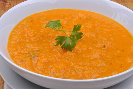 butternut: organic and healthy butternut squash creme soup