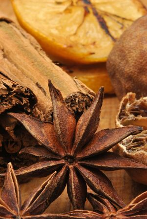 some organic dry spice for the christmas season Stock Photo - 6108181