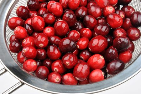 some sweet organic cranberry ready to clean Archivio Fotografico