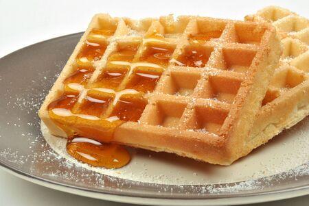 sucre glace: Wafer avec givrage de sucre et de miel organique