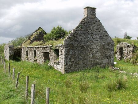 famine: old left cottage in the west of ireland
