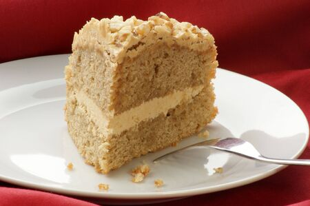cafe y pastel: Tarta de caf� casero con algunos frutos secos