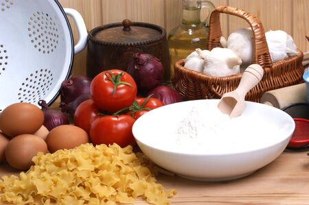 home made noodle in an italian kitchen Stock Photo - 6778474